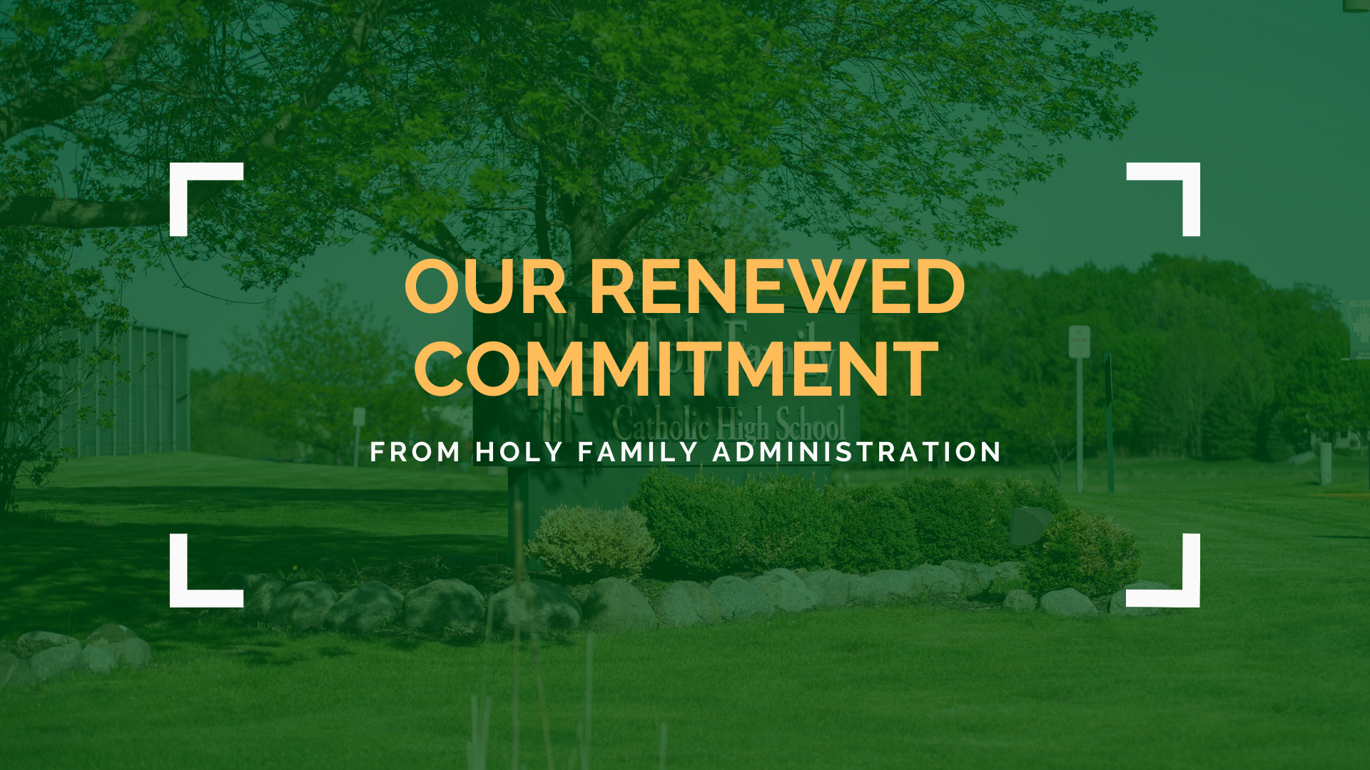 A Renewed Commitment from Holy Family Featured Image.