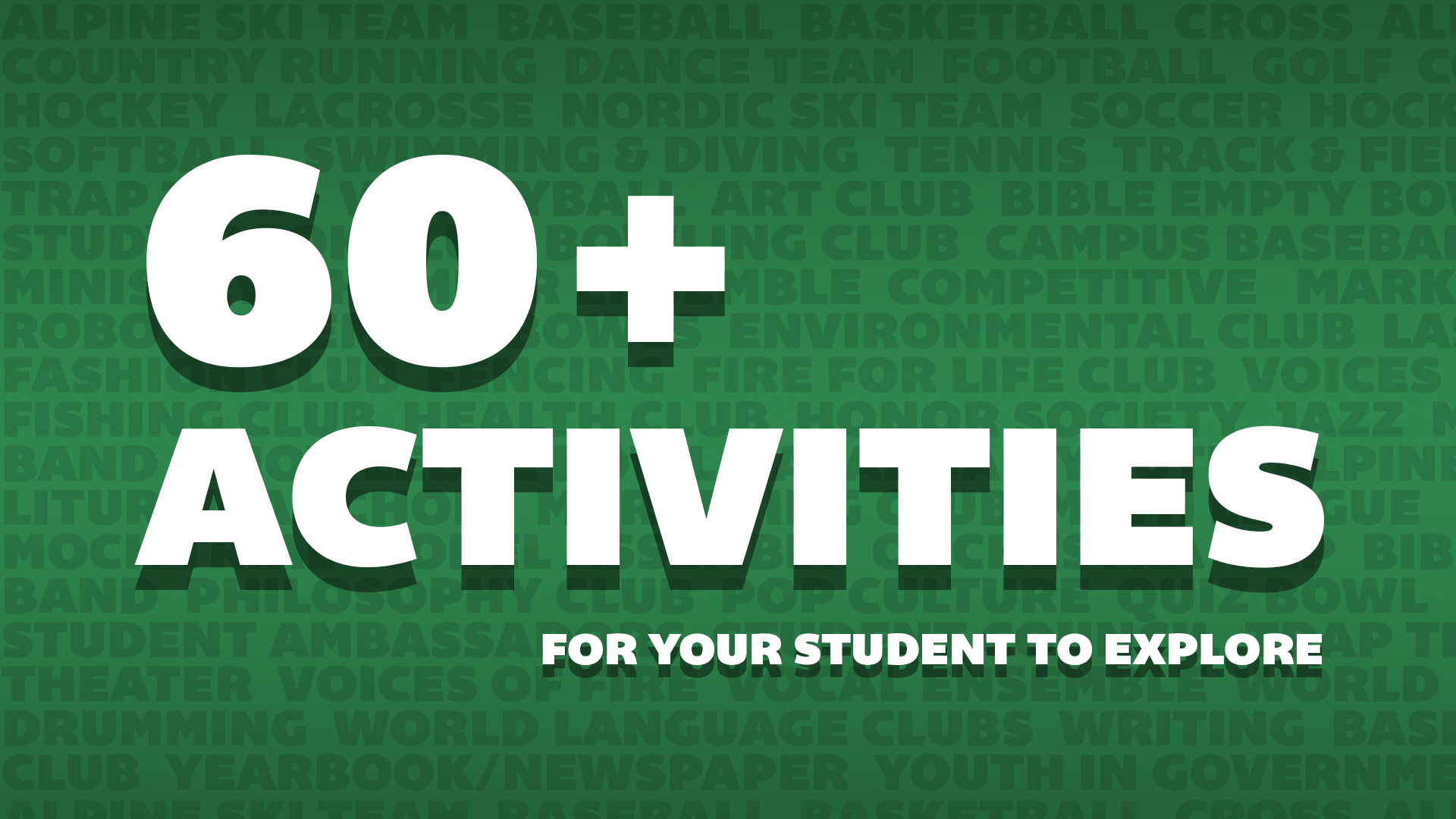 60-Plus Holy Family Extracurricular Activities Featured Image.